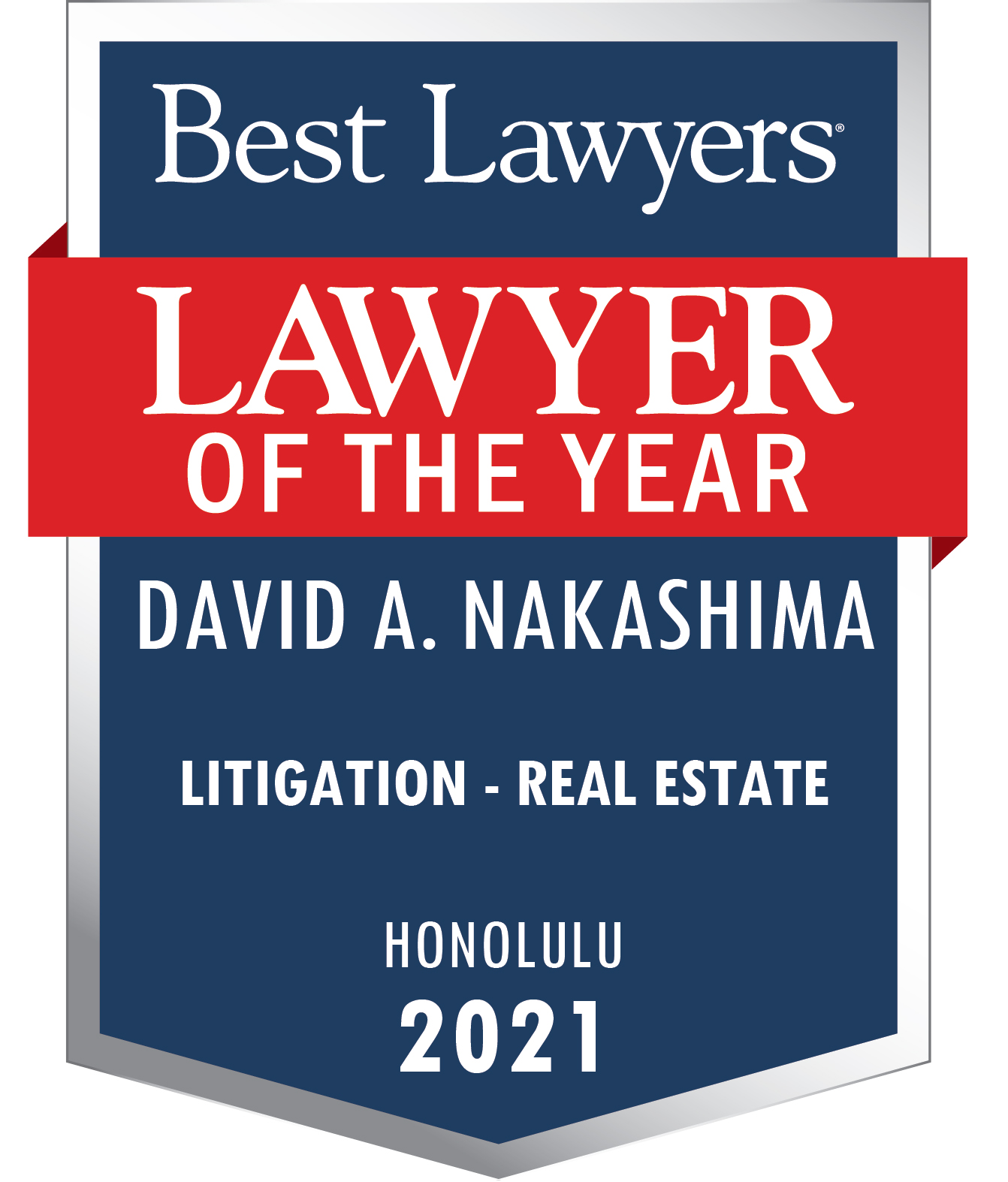 Best Lawyers Award Badge 2021